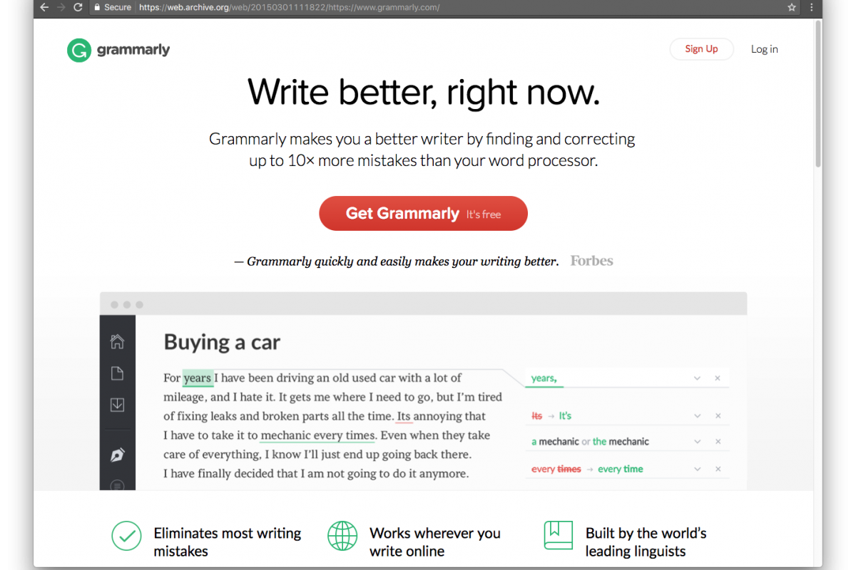 Write better with Grammarly