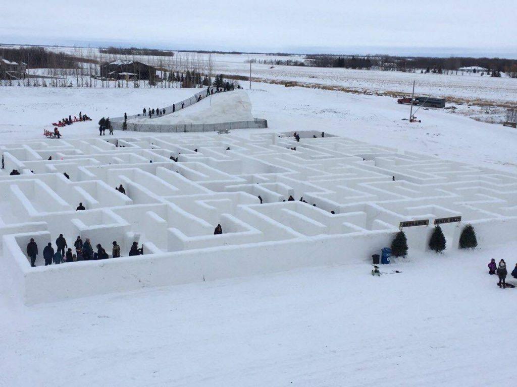 Manitoba Wins Largest Snow Maze